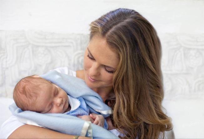 Madeleine di Svezia e il figlio Nicolas