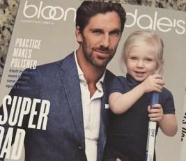 Henrik Lundqvist e Charlise sul catalogo di Bloomingdale
