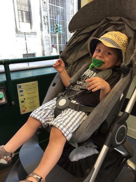 Vittorio Stokkizzato in tram